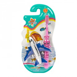 Детская зубная щетка Corlyse kids Plan NO.306, с игрушкой