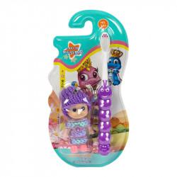 Детская зубная щетка Corlyse kids Doll NO.305, с игрушкой