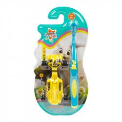 Детская зубная щетка Corlyse kids Car NO.302, с игрушкой