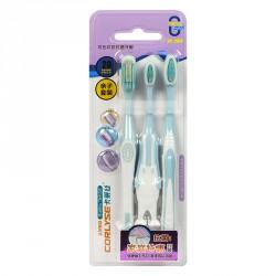 Набор зубных щеток Corlyse NO. 990, с резиновой головкой, soft, 3 шт